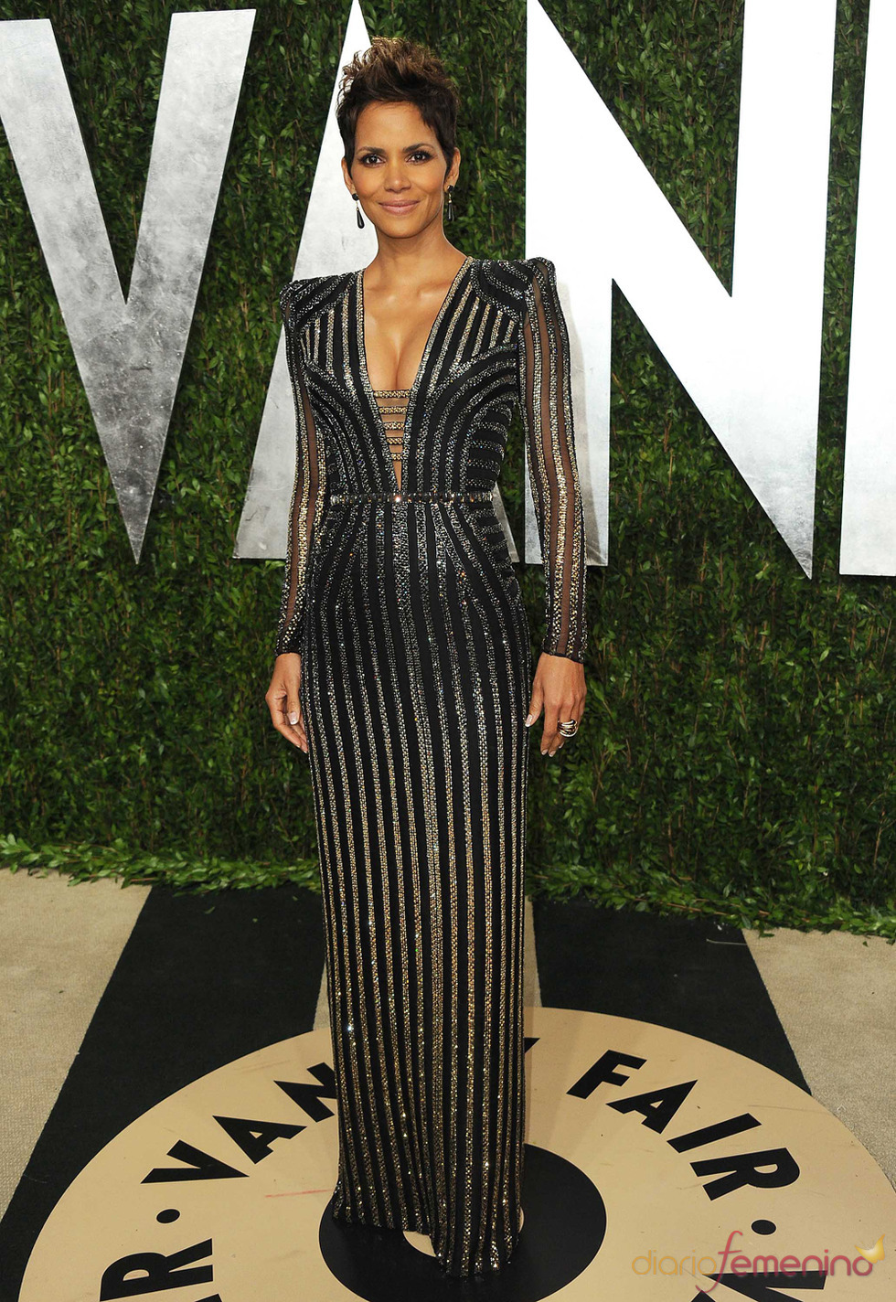 Halle Berry en la fiesta de Vanity celebrada tras los Oscar 2013