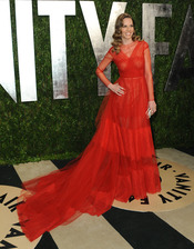 Hilary Swank en la fiesta de Vanity celebrada tras los Oscar 2013
