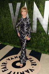 Jane Fonda en la fiesta de Vanity celebrada tras los Oscar 2013