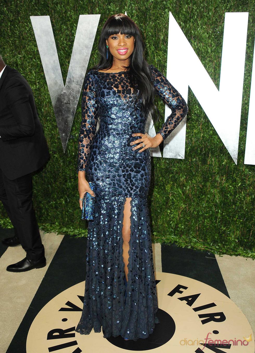 Jennifer Hudson en la fiesta de Vanity celebrada tras los Oscar 2013