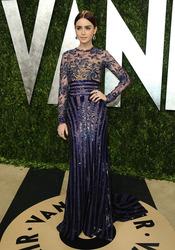 Lily Collins en la fiesta de Vanity celebrada tras los Oscar 2013