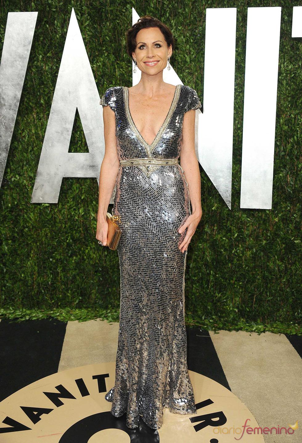 Minnie Driver en la fiesta de Vanity celebrada tras los Oscar 2013