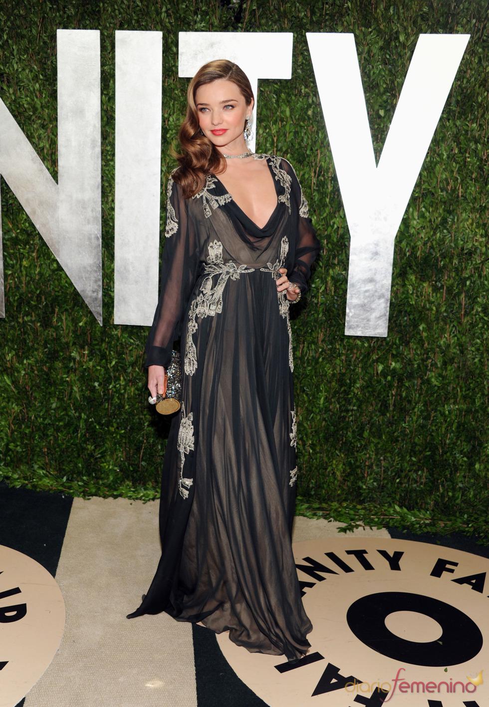 Miranda Kerr en la fiesta de Vanity celebrada tras los Oscar 2013