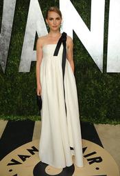 Natalie Portman en la fiesta de Vanity celebrada tras los Oscar 2013