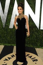 Salma Hayek en la fiesta de Vanity celebrada tras los Oscar 2013