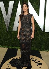 Sandra Bullock en la fiesta de Vanity celebrada tras los Oscar 2013