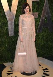 Zooey Deschanel en la fiesta de Vanity celebrada tras los Oscar 2013