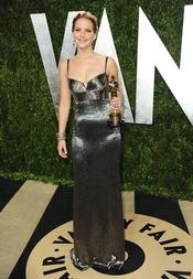 Jennifer Lawrence en la fiesta de Vanity celebrada tras los Oscar 2013