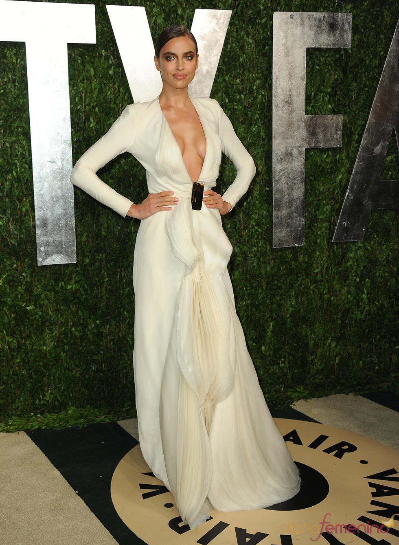 Irina Shayk en la fiesta de Vanity celebrada tras los Oscar 2013