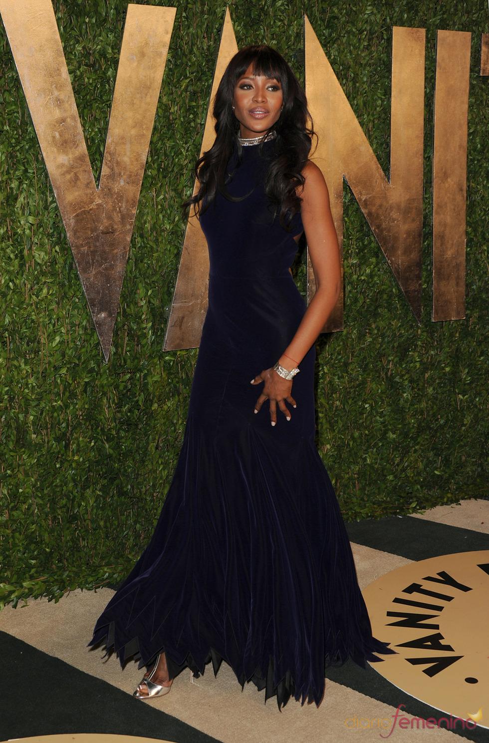 Naomi Campbell en la fiesta de Vanity celebrada tras los Oscar 2013