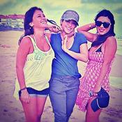 Shakira, Daniella Semaan y Antonella Roccuzzo: amistad en la playa