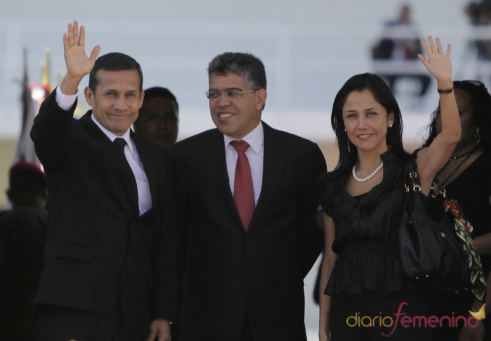 Ollanta Humala, presidente de Perú, llega al funeral de Hugo Chávez