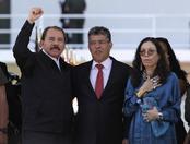 Daniel Ortega, presidente de Nicaragua, llega al funeral de Hugo Chávez