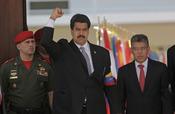 Nicolás Maduro, vicepresidente de Venezuela, llega al funeral de Hugo Chávez