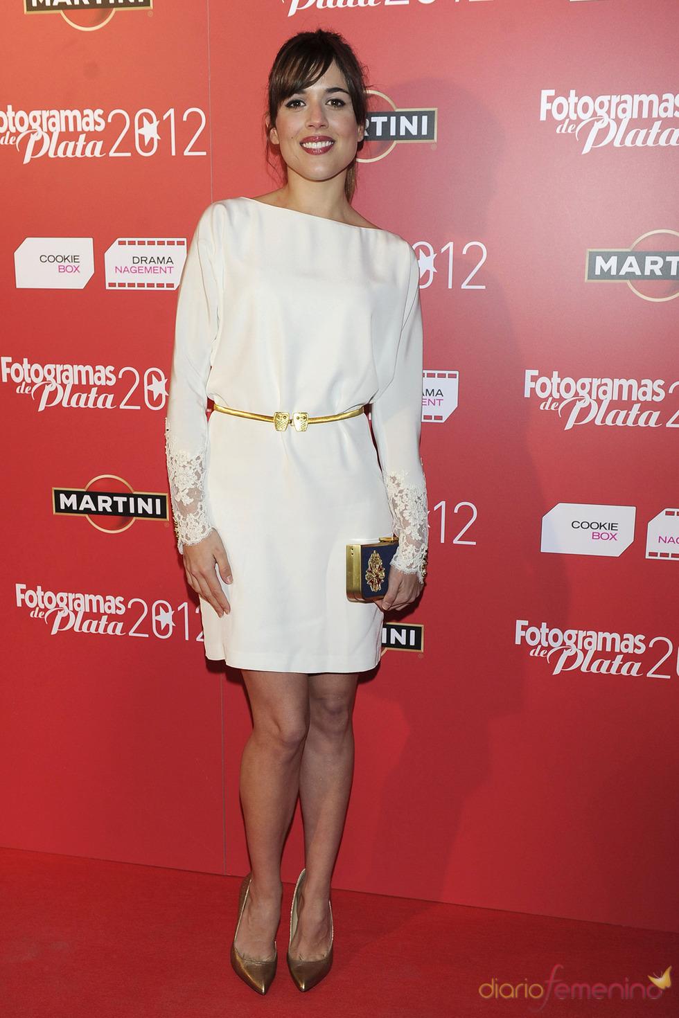 Adriana Ugarte en la alfombra roja de los Fotogramas 2012