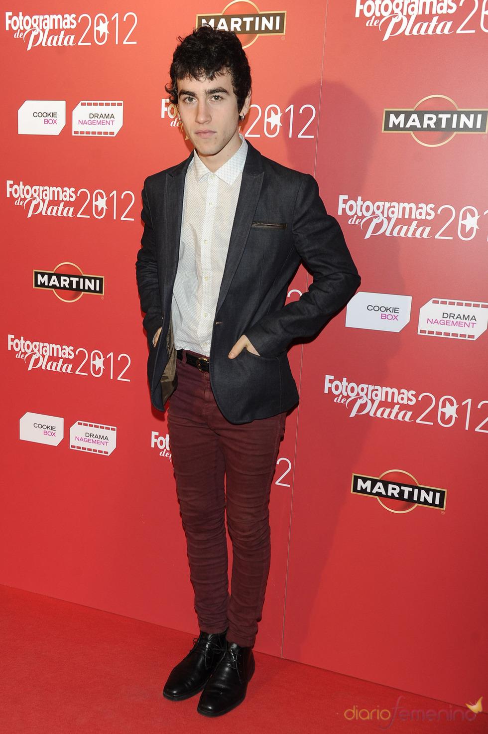Álex Monner en la alfombra roja de los Fotogramas 2012