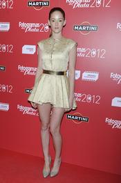 Ana Polvorosa en la alfombra roja de los Fotogramas 2012