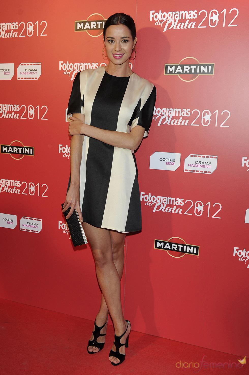 Dafne Fernández en la alfombra roja de los Fotogramas 2012