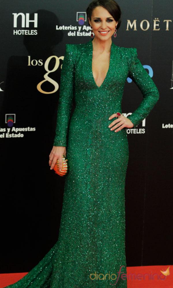 Los looks de Paula Echevarría: deslumbrante en los Goya 2013