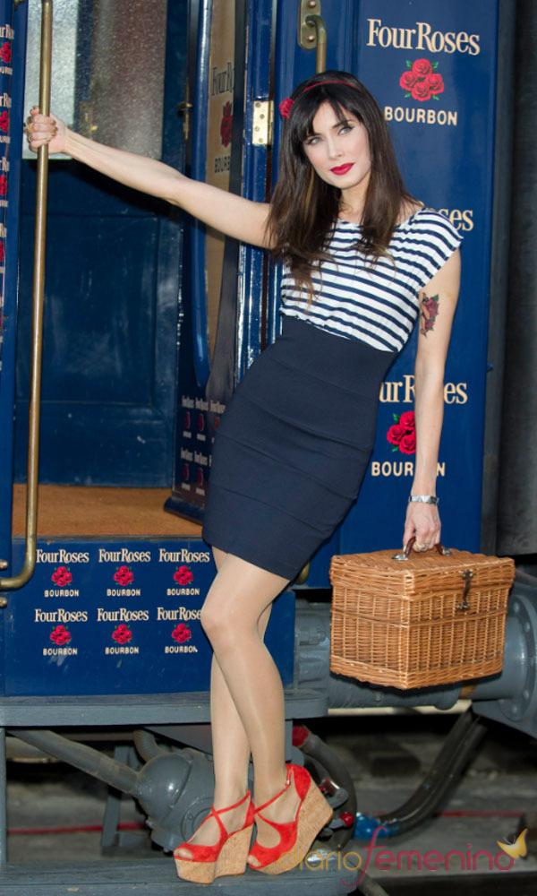 El look de Pilar Rubio: el look Navy