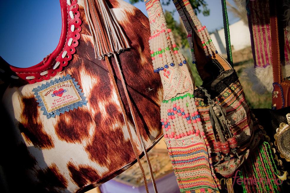 Moda hippie en el mercadillo de Las Dalias en Madrid 2010