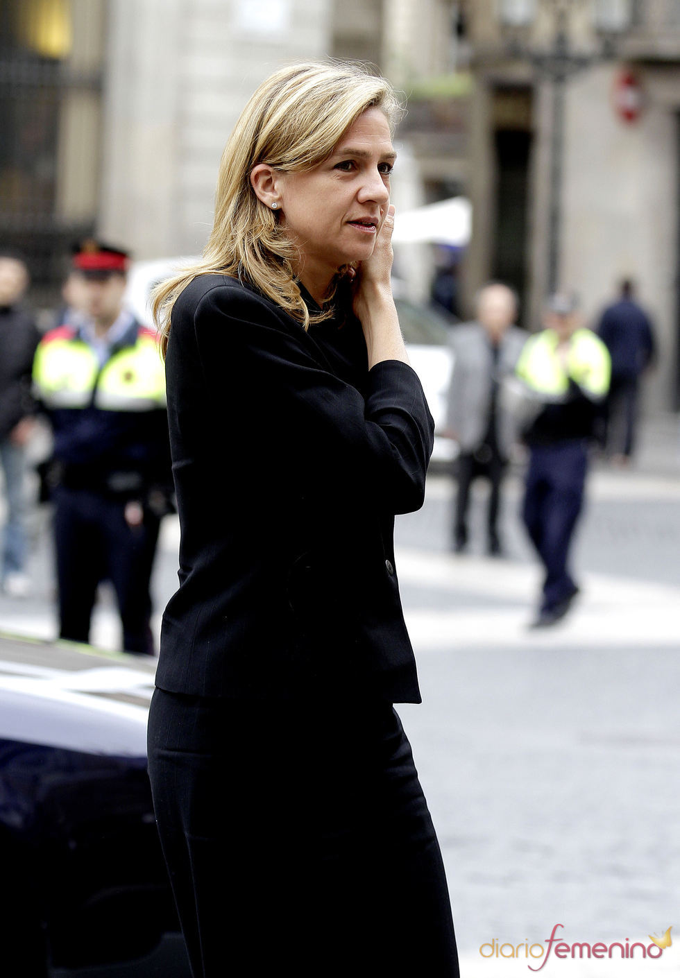 La Infanta Cristina acude a la capilla ardiente de Samaranch