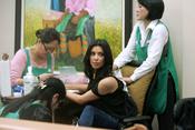 Kim Kardashian. con masaje incluido