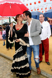 La cantante Toñi Salazar en la Feria de Abril 2010