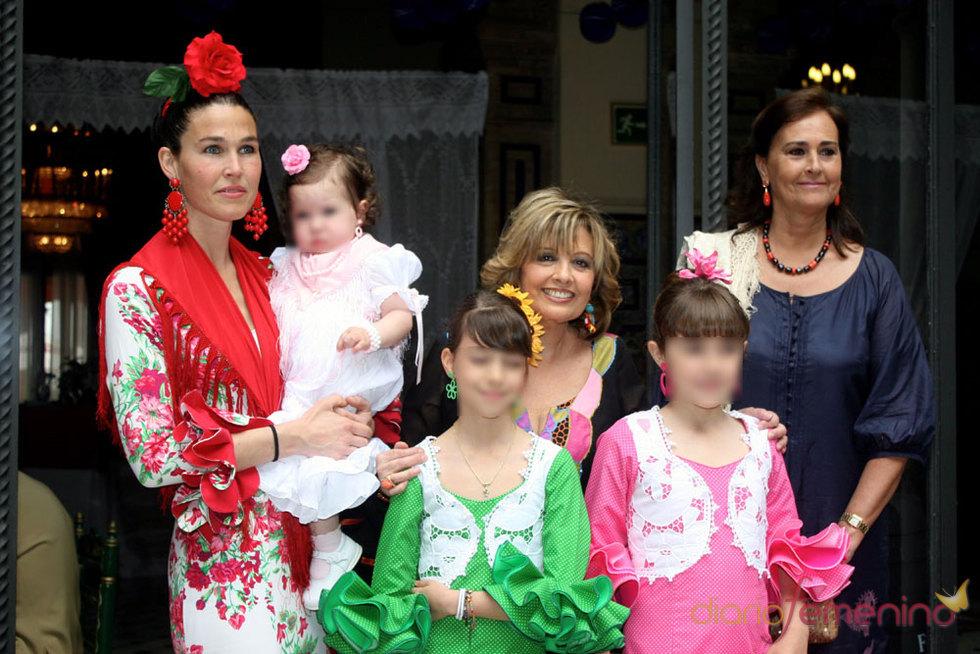 María Teresa Campos en la Feria de Abril de Sevilla