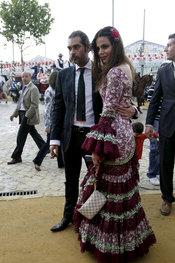 La modelo sevillana Marisa Jara en la Feria de Abril