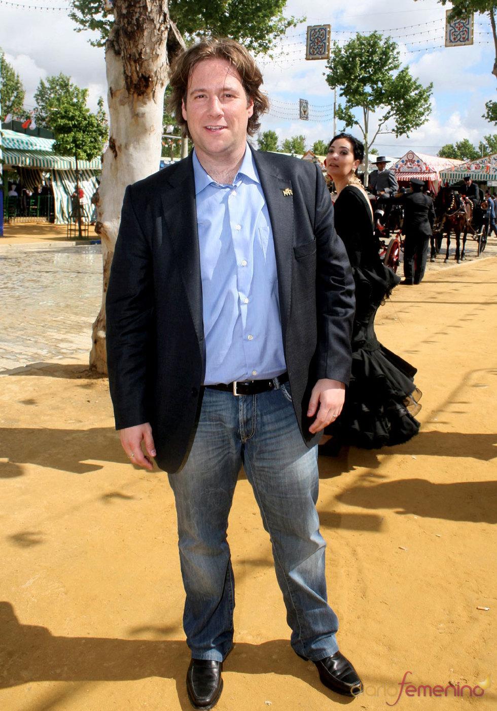 El famoso humorista Carlos Latre en la Feria de Abril