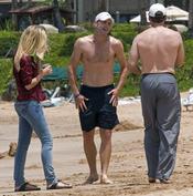 Andy Roddick hace deporte en las playas de Hawái