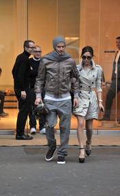 David y Victoria Beckham bien conjuntados