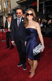Robert y Susan Downey en la premiere de 'Iron Man 2'
