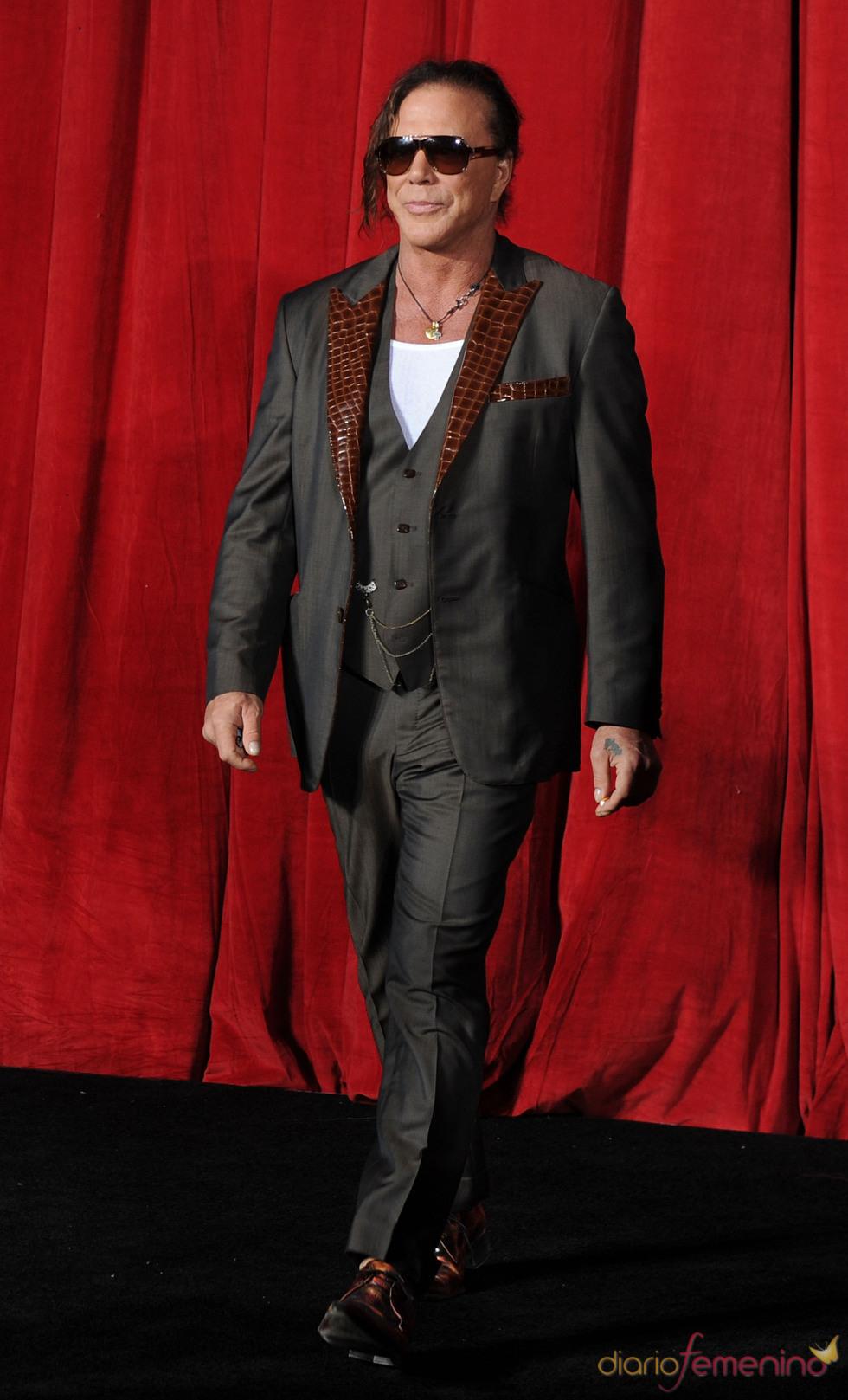 Mickey Rourke en la premiere de 'Iron Man 2'