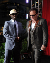 Mickey Rourke y Don Cheadle en la premiere de 'Iron Man 2'