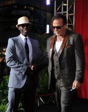 Mickey Rourke y Don Cheadle en la premiere de 'Iron Man 2'