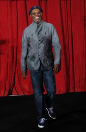 Samuel L. Jackson en la premiere de 'Iron Man 2'