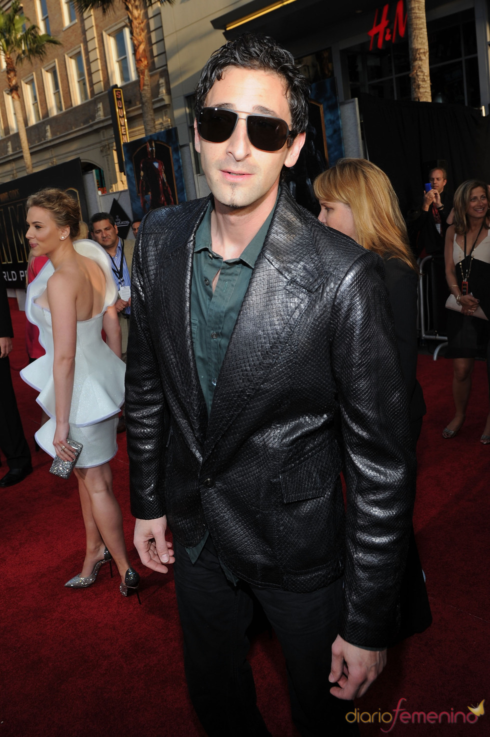 Adrien Brody en la premiere de 'Iron Man 2'