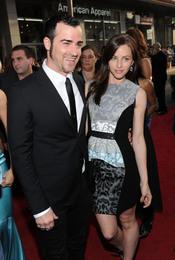 Justin Theroux y Heidi Bivens en la premiere de 'Iron Man 2'