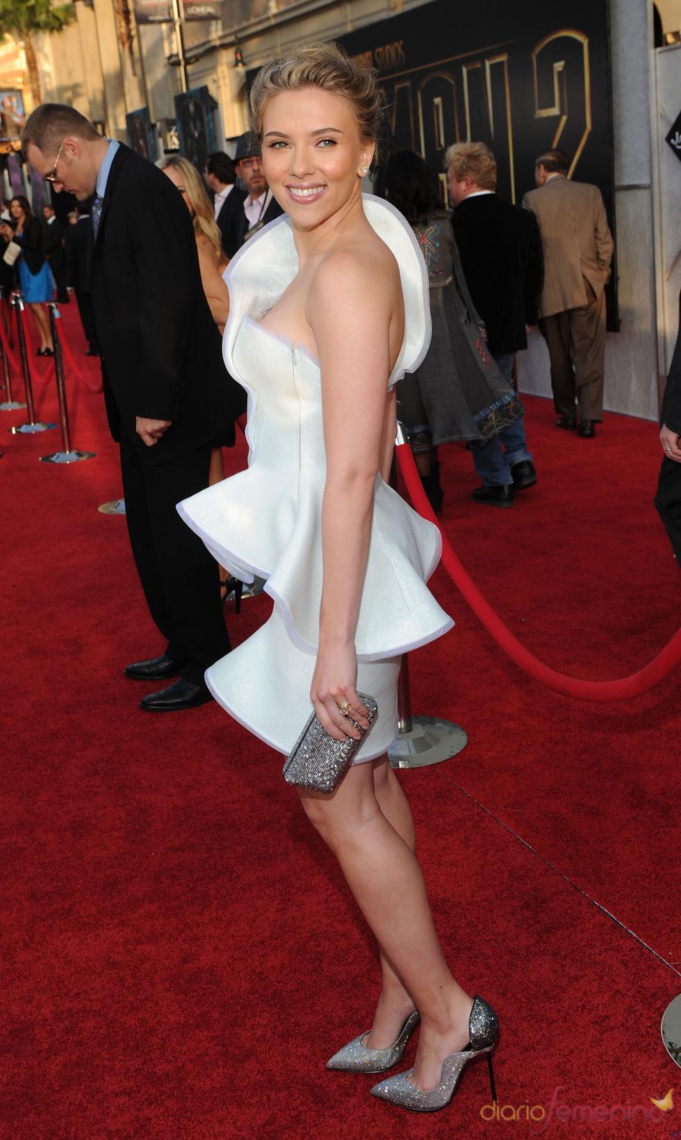 Johansson, radiante en la premiere de 'Iron Man 2'