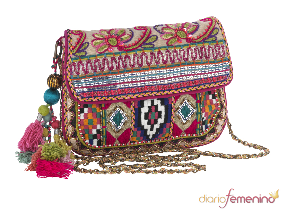 Bolso con bordado de estilo hippie
