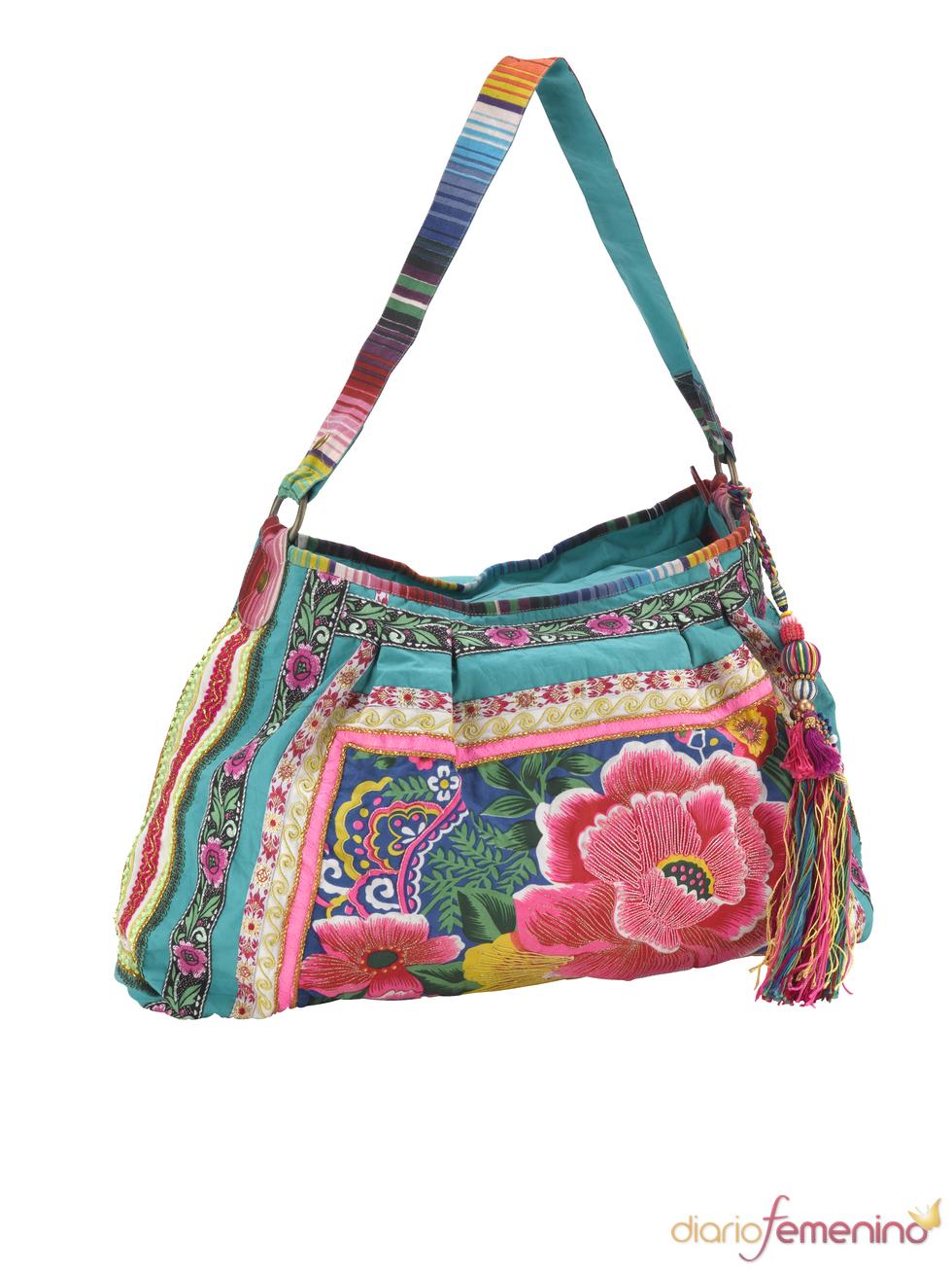 Bolso hippie de flores