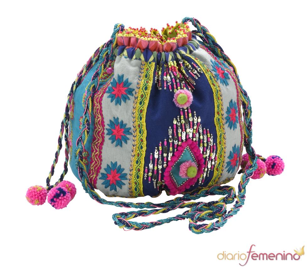 Bolso-saco de estilo 'flower power'