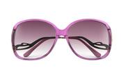 Gafas de sol rosas y hippies