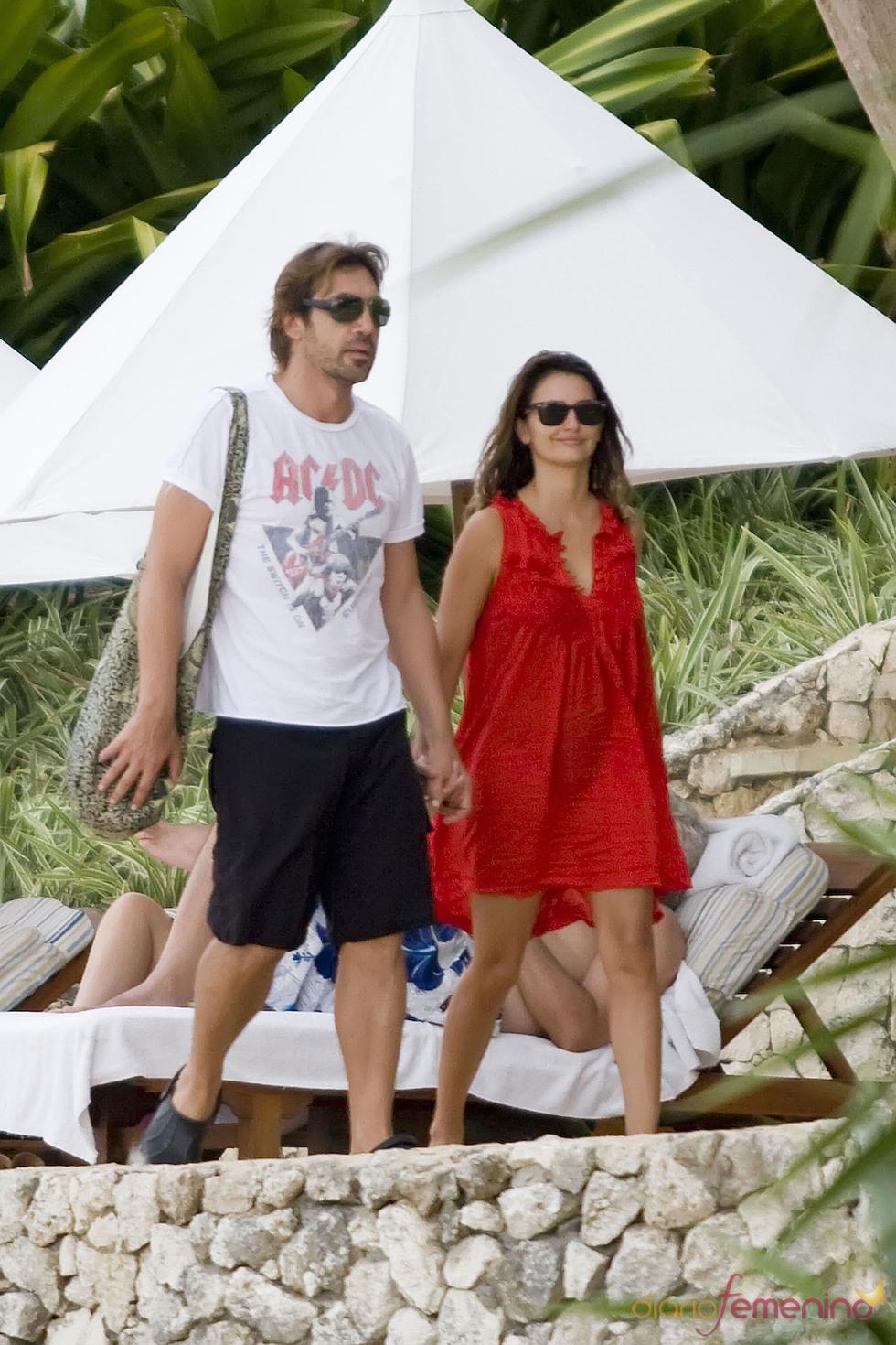 Penélope Cruz y Javier Bardem disfrutando en Bali
