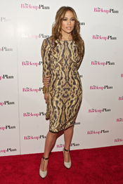 Jennifer Lopez, con vestido de leopardo