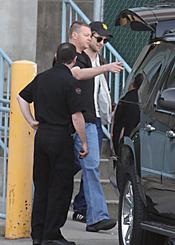 Robert Pattinson en el rodaje de 'Eclipse'