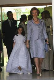 La reina Sofía en la Primera Comunión de Victoria Federica