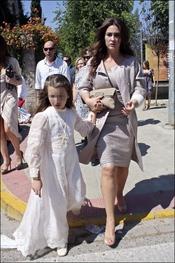 Primera Comunión de la hija de Vicky Martin Berrocal